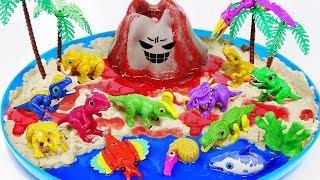 Dino Mecard Dinosaur Toys DIY Volcano Eruptiont   Jurassic World