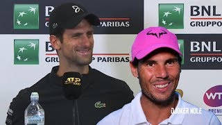 "Novak Djokovic ""Nadal is my Greatest rival of all time"" - Rome 2019 (HD)"