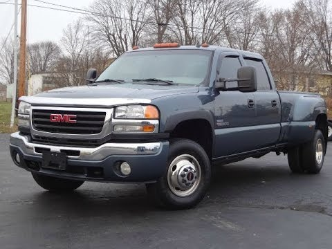 2006 gmc 3500 slt 4x4 lbz duramax diesel dually sold youtube. Black Bedroom Furniture Sets. Home Design Ideas