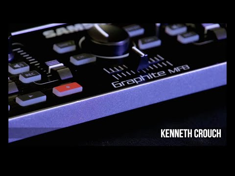 Samson Graphite MF8 mini USB MIDI control surface with faders overview with Kenneth Crouch