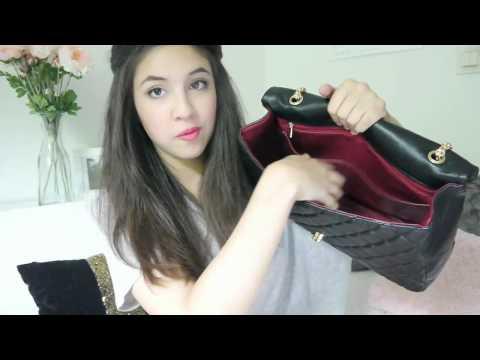 Adele Large Flap Bag Lambskin Black