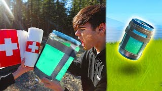 BEST FORTNITE ITEMS IN REAL LIFE CHALLENGE! (Fortnite Items In Real Life)