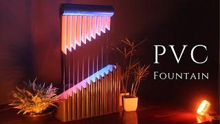 Amazing Water Fountain using PVC Pipes and LED (DIY)