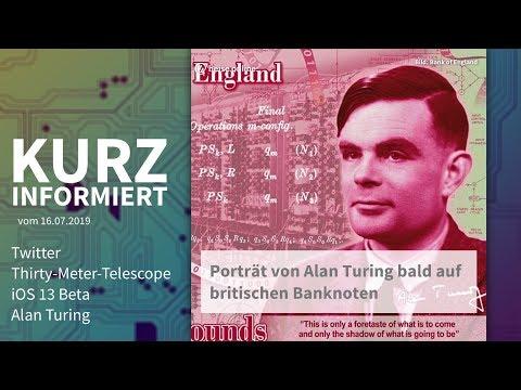 Twitter, Thirty-Meter-Telescope, iOS 13 Beta, Alan Turing | Kurz informiert vom 16.07.2019