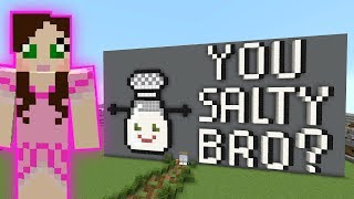 Minecraft: YOU SALTY BRO PARKOUR! - HEAD HUNTER THEME PARK [8]
