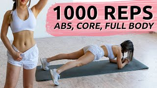1,000 Reps to burn fat & get ABS | Try this challenge everyday