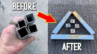 Casting Solid Aluminum Bars From Steel Pipes (And Custom Dice) - Scrap Aluminum Melt
