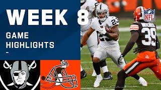 Raiders vs. Browns Week 8 Highlights | NFL 2020