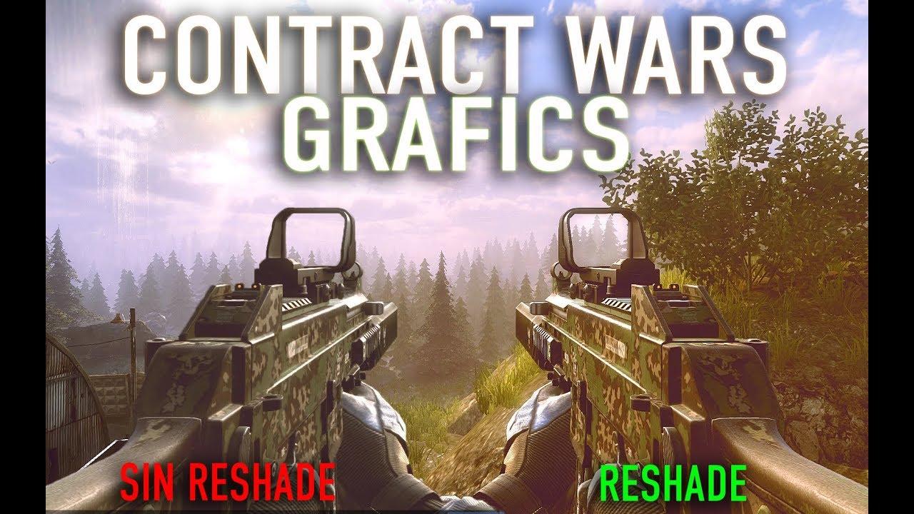 Contract Wars: Cómo mejorar gráficos? | RESHADE GRAFICS