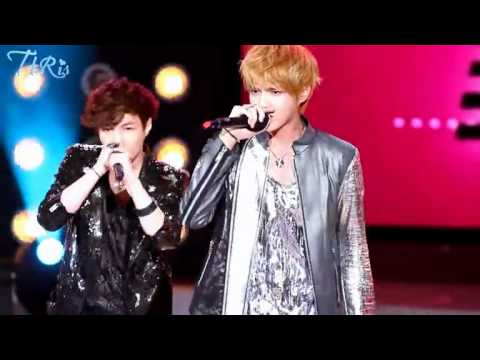 120627 EXO-M Kris and Lay rap battle 'Two Moon' at Exceptionally Unlike Another