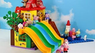 Peppa Pig Blocks Mega House LEGO Creations Sets With Masha And The Bear Legos Toys For Kids #5
