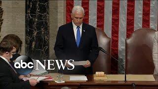 ABC News Special Report:  US Congress certifies Joe Biden's election victory l ABC News
