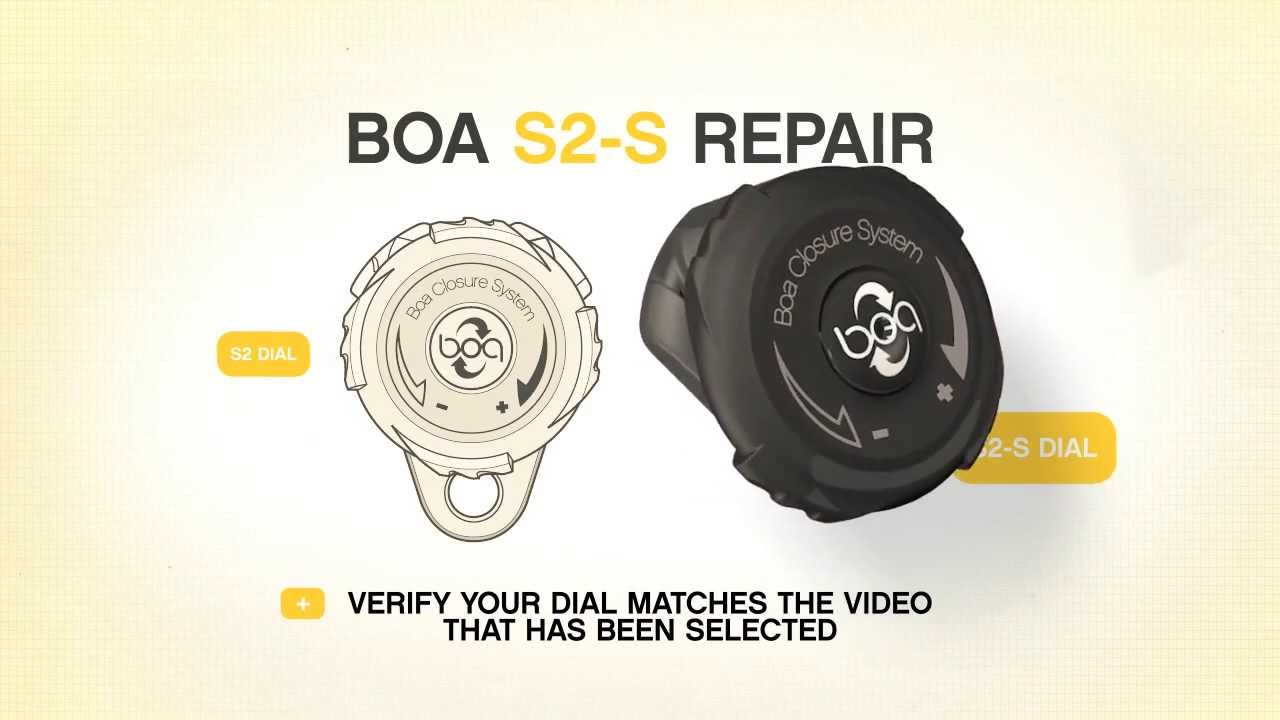 How to FIX and REPLACE your Broken BOA Lace S2 S Dial on