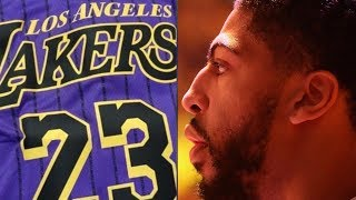 """Lakers LEAK """"City Edition"""" Jerseys! Anthony Davis Signing With Lakers?!"""