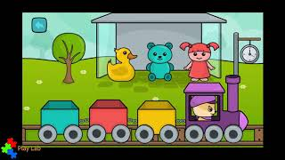Learn Shapes and Colors - Train - Educational app for children