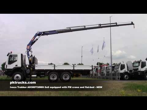 iv3754 Iveco 6x6 with PM crane flat bed