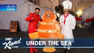 Guillermo, John Stamos & Shaggy at 'The Little Mermaid Live!' Rehearsal