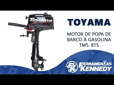 Motor de Popa de Barco À Gasolina Tm5.8Ts Toyama - 5.8 Hp - Vídeo explicativo