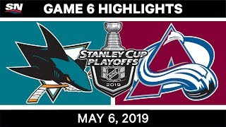 NHL Highlights | Sharks vs. Avalanche, Game 6 – May 6, 2019