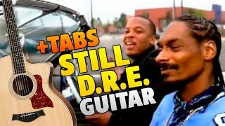 Dr Dre - Still Dre (Fingerstyle Cover On Acoustic Guitar + Tabs)
