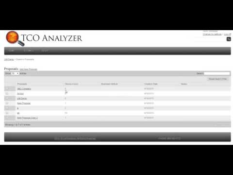 Creating a Proposal | TCO Analyzer Training Video