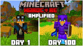 I Survived 100 Days In Minecraft Hardcore Amplified