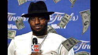 LeBron James getting