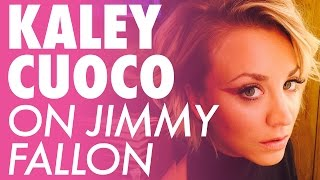 Kaley Cuoco on Jimmy Fallon | Jamie Greenberg Makeup
