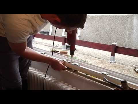 fenster einbauen setzen anleitung tutorial vom schreiner how to install a window new. Black Bedroom Furniture Sets. Home Design Ideas