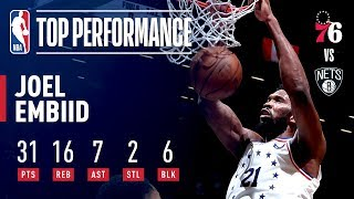 Joel Embiid STUFFS The Stat Sheet in Game 4 | April 20, 2019