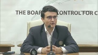 New BCCI President Sourav Ganguly addresses media in Mumba..