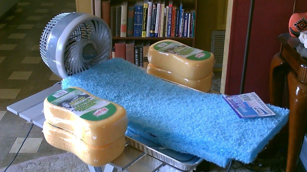 "Homemade ""Sponge"" Humidifier/Air Cooler - DIY - Fan-Forced ..."