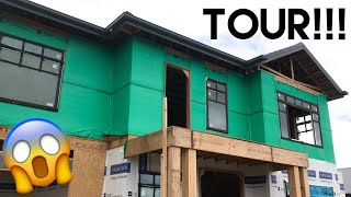 Building Our Dream Home | More Framing Up, Inspections + Walk Through Tour!! - Episode 8
