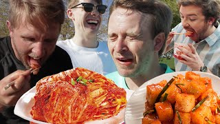 Americans Try Kimchi for the First Time!!