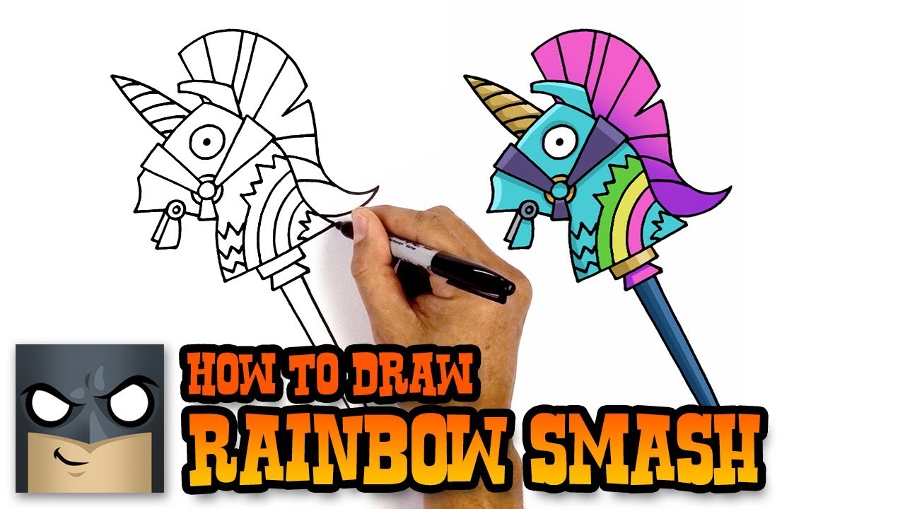 How To Draw Fortnite Weapons Rainbow Smash