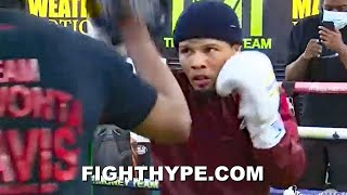 GERVONTA DAVIS HEAVY ARTILLERY KO COMBOS; SHARPSHOOTING FOR LEO SANTA CRUZ WITH TANK FIREPOWER