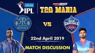 Rajasthan vs Delhi T20 match   Live Scores and Analysis (English)   IPL 2019