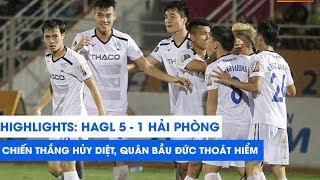 HIGHLIGHTS   HAGL - Hải Phòng FC   Minh Vương hat-trick, phố Núi mở hội   NEXT SPORTS
