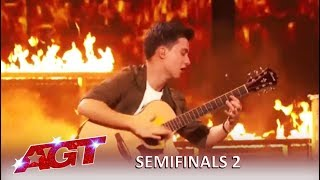 Marcin Patrzalek: Master Guitarist Is On FIRE and Proves Simon Wrong   America's Got Talent 2019