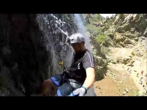 Adams Canyon Waterfall Rappel Drone