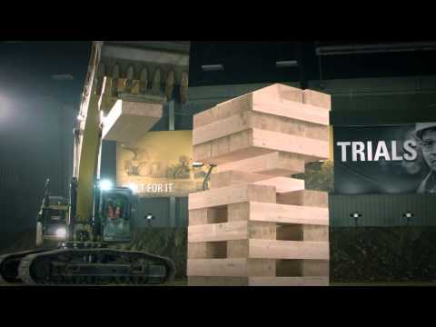 Built For It Trials - Stack:Largest JENGA Game Played with Cat® Excavators