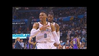 "Russell Westbrook Yells ""That's For Nipsey Hussle"" As He Finishes Historic 20-20-20 Night vs Lakers!"
