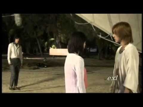 Kim Hyun Joong and Goo Hye Sun Making Kiss scene