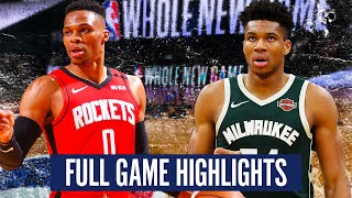 MILWAUKEE BUCKS vs HOUSTON ROCKETS - FULL GAME HIGHLIGHTS | 2019-20 NBA Season