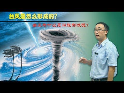 台风是如何形成的?为什么是涡旋状?李永乐老师讲科里奥利力