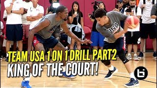 USA Basketball EPIC 1 ON 1 DRILL PART 2! Kevin Durant Cooking Everyone
