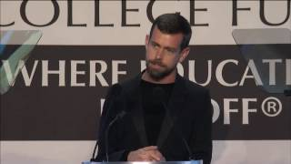 Jack Dorsey Accepts CEO of the Year Award