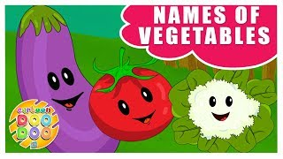 Learn Names of Vegetables Educational Videos for Children | Cartoon Doo Doo TV