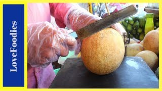 FRUIT NINJA of Muskmelon | Amazing Fruits Cutting Skills | Indian Street Food In 2018