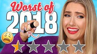 The WORST MAKEUP of 2018.... AVOID THESE PRODUCTS!!